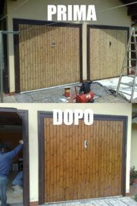 Ripristino basculanti e garage in legno con prodotti protettivi che donano lucentezza e resistenza nel tempo